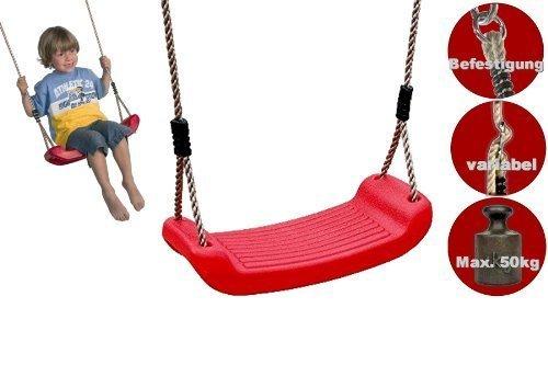 Loggyland Schaukelsitz aus Kunststoff, Kinder-Brettschaukel, (rot)