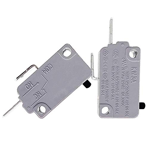 KW3A Microwave Oven Door Switch 16A 125/250V Door Interlock Switch for LG GE Starion Kenmore (2 Normally Open)