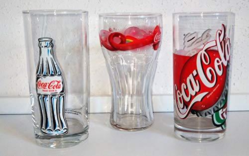 Glas / Coca-Cola / Cola glazen / Original / verzamelglas / 3 x 0,3 liter / Retro / Vintage / Fanta