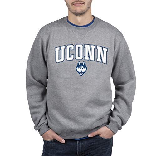 Top of the World Connecticut Huskies Men's Crewneck Charcoal Gray Sweatshirt, XX-Large