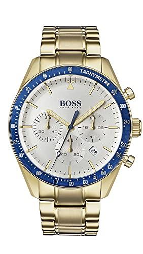 Hugo Boss Reloj Cronógrafo para Hombre de Cuarzo con Correa Bañada en Oro 1513631
