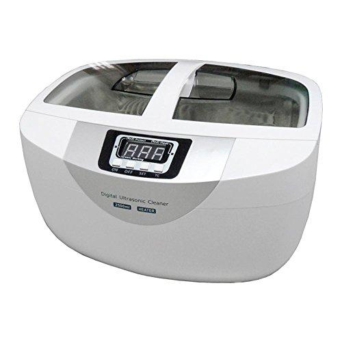 Ultraschallreiniger, 2,5 Liter 60W Digital Timer Rostfrei Stehlen Körbe Schmuck Uhren Dental Heizung Ultraschall Gemüse