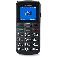Panasonic KX-TU110EXB- Teléfono Móvil Para Personas Mayores (Pantalla y Teclas Grandes, Botón SOS, Resistente a Golpes, Linterna, Batería 22h) - Color Negro