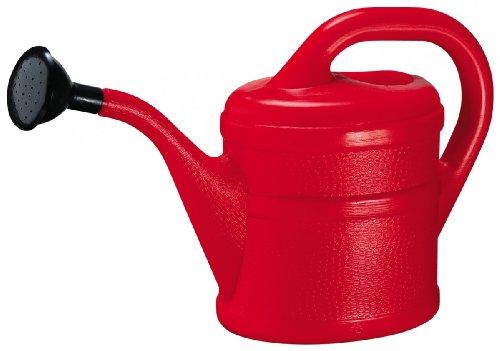Gießkanne Inhalt 2 Liter aus Kunststoff, Farbe:rot