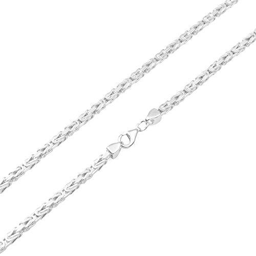 Königskette 3mm 925 Silber massiv - Länge Wählbar - Collier Halskette oder Armband (60)
