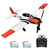 VOLANTEXRC Remote Control Airplane 2.4Ghz 4CH with Aileron T28 Trojan Parkflyer RC Aircraft Plane Ready to Fly with Xpilot Stabilization System, One-Key Aerobatic Perfect for Beginner (761-9 RTF)
