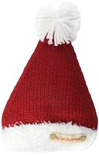 Mud Pie Baby My First Christmas Santa HAT, red, 0-6 Months