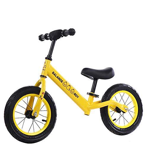 Balance Bike 12'Balance Bike Telaio in Acciaio al Carbonio Senza Pedali Balance Bike Bicicletta da Allenamento per Bambini da 2 A 6 Anni