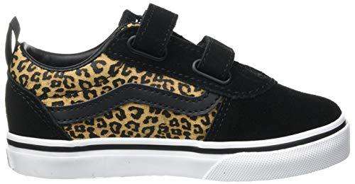 Vans Ward V-Velcro Suede, Scarpe da Ginnastica Unisex-Bambini, Cheetah Black/White, 18 EU
