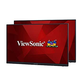 ViewSonic VA2256-MHD_H2 Frameless Dual Pack Head-Only 1080p IPS Monitors with HDMI DisplayPort and VGA for Home and Office Black