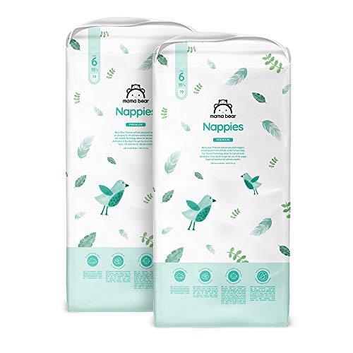 Amazon-Marke: Mama Bear - 140 Premium Windeln - Größe 6 (15+ kg)