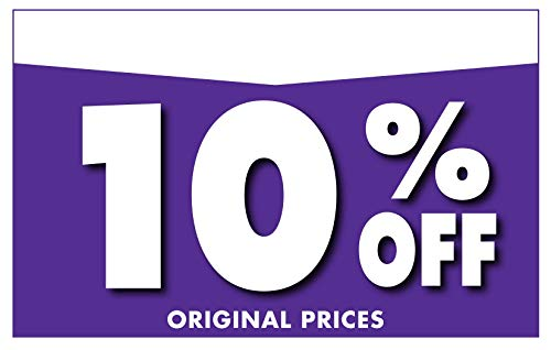 """Adlife Office Retail Store Signs � Card Stock Product Display Signs - Retail Sale Signs/Retail Tags - 'Percentage Off' Retail Signs - 5.5"""" x 3.5"""" Retail Display Signs - 100 Sign Pack Photo #5"""