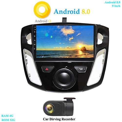 XISEDO Android 8.0 Autoradio 9 Pouces Écran Tactile in-Dash Voiture Radio 8-Core RAM 4G ROM 32G Autoradio pour Ford Focus (2012-2015) (avec DVR)