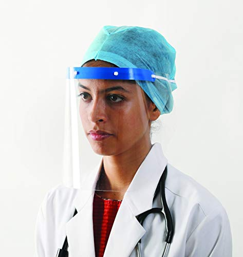 Mediweave Face Shield Safety Mask Polypropylene(PP) White Color (Pack of 5)