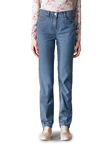 Walbusch Damen Yoga Jeans Supersoft einfarbig Mid Blue 22