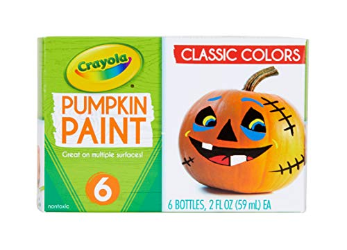 Crayola Pumpkin Paint Kit, Acrylic Paints in Classic Colors, Halloween Decorations, 6Count