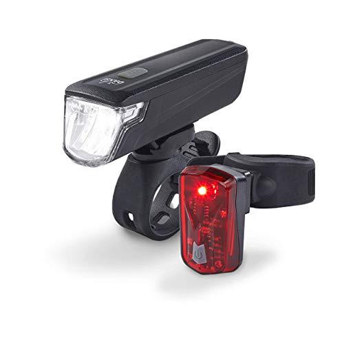 DANSI Fahrradleuchten-Set StVZO I LED-Fahrrad-Licht Akku USB aufladbar I Rad-Licht hell vorne + hinten I Fahrradbeleuchtung umschaltbar 30/15 Lux I Rücklicht & Frontleuchte Stoßfest & Regenfest