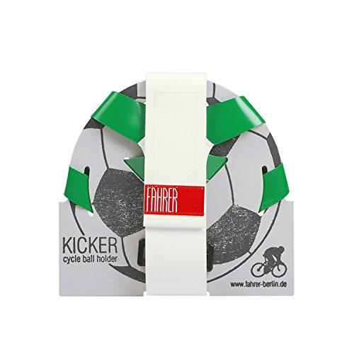 FAHRER Ballhalter | KICKER - für Fußball, Handball, Basketball der Normgröße 5 (Grün/Weiß)