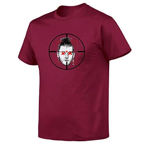 WEII T-shirt Rapper Eminem print korte mouwen T-stuk mode 3D gedrukt onderhemd unisex vrije tijd wild 3XL rood