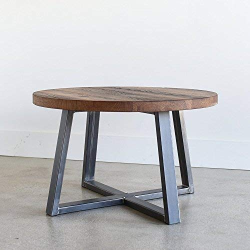 Round Reclaimed Wood Coffee Table From What We Make Accuweather Shop