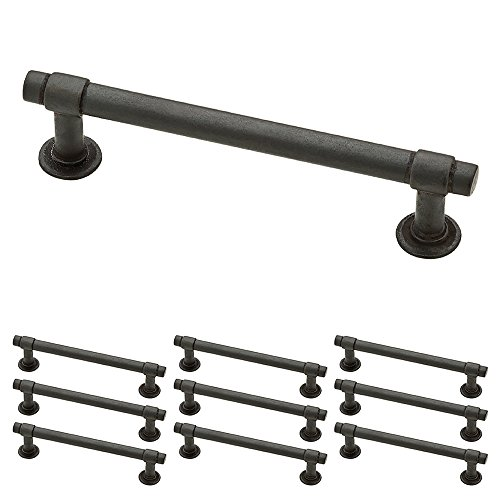 "Franklin Brass P29617K-SI-B Straight Bar Pull, 4"" (102mm), Soft Iron, 10 Piece"
