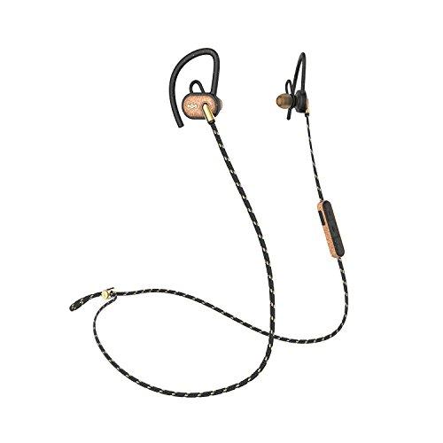House of Marley Uprise in-ear cuffie, batteria 8ore, resistente agli agenti atmosferici e a prova di sudore IPX5valutazione, personalizzabili Fit, microfono e comando integrato