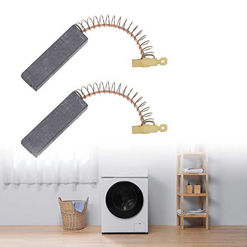 2 spazzole di carbone per lavatrice per carbone, carboncini abrasivi, 12,5 x 5 x 36 mm, per motori elettrici, lavatrice