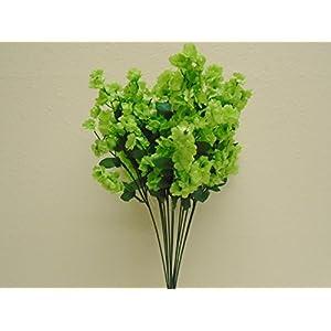 12 Sprays Green Baby Breath Gypsophila Filler Artificial Silk Flowers 15″ Stem 331 KI