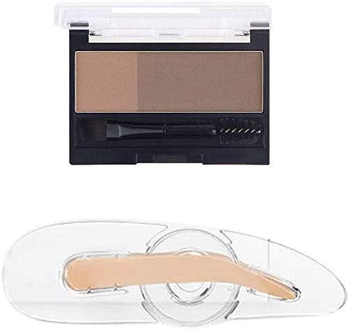 Moule à joint à sourcils professionnel, outil de maquillage rapide paresseux avec joint de poignée Poudre à sourcils réglable pour moule à sourcils, adapté aux débutants (2)