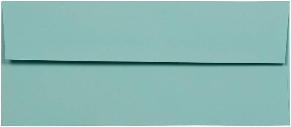 JAM PAPER #10 Business Max 84% OFF Premium Envelopes - Max 71% OFF x 4 Aqua 9 1 8 2