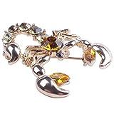 TOOGOO Decorativo Rhinestone Prendas de Vestir Joyeria Broche Pin Nupcial de la Boda Aleacion Animal...