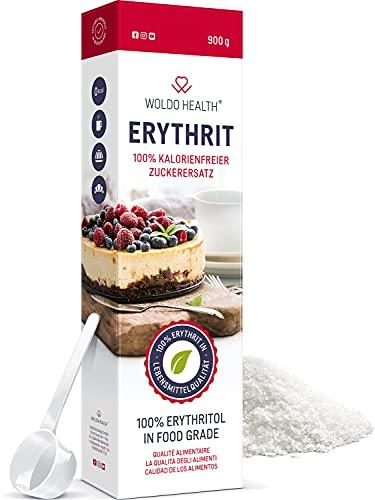 Erythrit 900g Zuckerersatz ohne Kalorien vegan & glutenfrei mit 70% der Süßkraft von Zucker