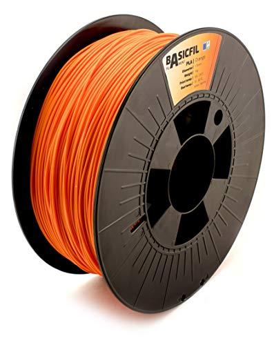 Basicfil PLA 1.75mm, 1 kg filamento per stampante 3D, Arancione