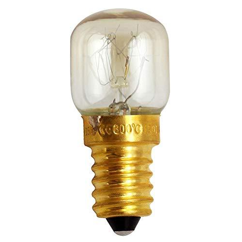 duhe189014 15W 25W Backofen Glühbirne Mikrowelle Glühbirne Hohe Temperatur 300 Grad E14 Kleine Glühbirne Salzkristall Lampe