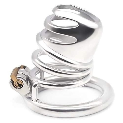 DIoFent Dispositivo de cást-ídad de Acero Protección de Ropa Interior de cinturón de Metal para Hombre Jǎulǎ Longitud 47 mm con Anillo de 50 mm (TRLY-3Q)