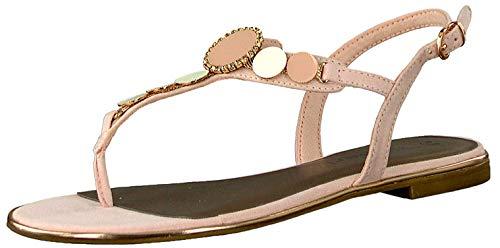 Tamaris 28151-22 Damen modische Sandale aus Lederimitat mit Gummizug Schnalle, Groesse 40, rosé