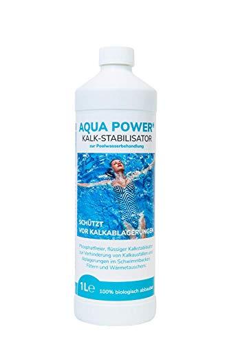 Aqua Power Härtestabilisator - Kalkstabilisator für Pool Schwimmbad und Whirlpool | hochwirksames Konzentart - reicht für 30m³ und für die gesamte Saison | 100% biologisch abbaubar