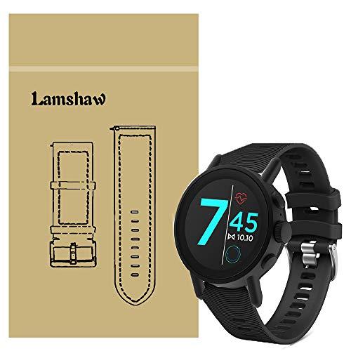LvBu Armband Kompatibel Für Misfit Vapor X, Sport Silikon Classic Ersatz Uhrenarmband Für Misfit Vapor X Smartwatch (Schwarz)