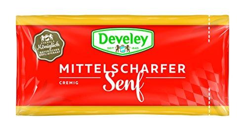 DEVELEY Mittelscharfer Senf Portionsbeutel, 1er Pack (100 Beutel x 15 ml)