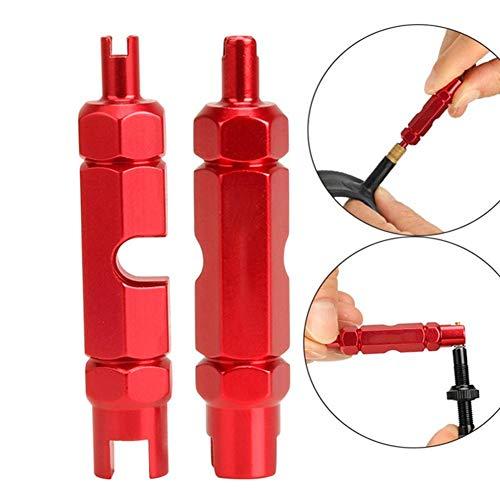 Fietsventielkernverwijderaar, multifunctioneel antislip-luchtventiel Sleutel Demontage Gereedschap Fiets Binnenband Sleutel Schroevendraaier Demontage