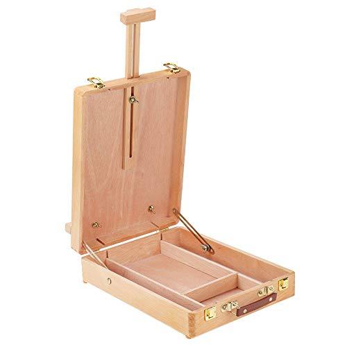 VHGYU Caballete de arte marco plegable de madera caballete mesa de dibujo ajustable artista tablero de dibujo portátil pintura al óleo caballetes suministros de arte caballete