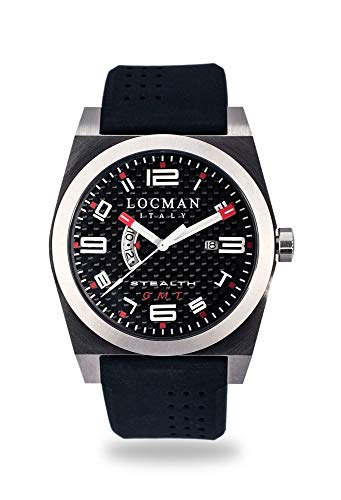 Locman Locman Italy Orologio Uomo Stealth GMT Nero Rif. 200