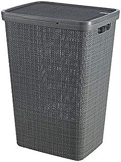 CURVER Coffre A Linge Jute 58L, Gris, 70% Recyclé