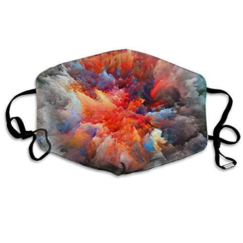 Abstraction Humo Pintura Brillo Explosión Unisex Tubo Máscara de cobertura completa Bandanas Protección UV Polainas Cuello Diadema
