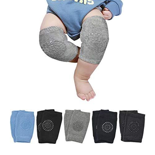 Ideal Swan [5 Paar] Knieschoner Baby Krabbeln Krabbelknieschoner Baby Baby-knieschützer Krabbel Anti Slip für 6-24 Monate