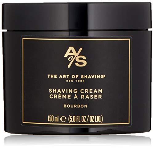 The Art of Shaving Shaving Cream for Men - Shaving Cream Mens Beard Care, Protects Against Irritation and Razor Burn, Clinically Tested for Sensitive Skin, Bourbon, 5 Ounce