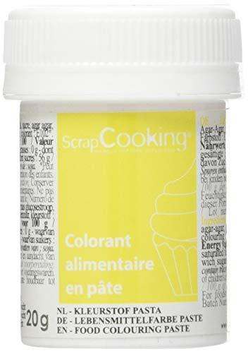 Scrapcooking Colorant en Pâte Jaune Citron 20 g