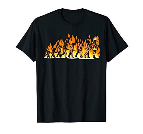 EVOLUTION Feuerwehr tshirt Feuerwehrmann Atemschutz Geschenk T-Shirt