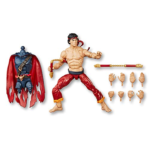 Spider-Man Hasbro Marvel Legends Series 6' Collectible Action Figure Shang Chi Toy, with Build-A-Figurepiece & Accessories