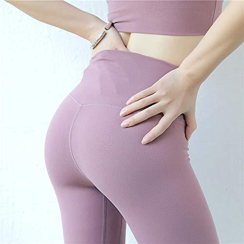 Nouvelles Femmes Leggings 6 Couleurs Mode Haute Élasticité Décontracté Taille Haute Solide Respirant Leggings De Gym pour Fitness L Lightpurple